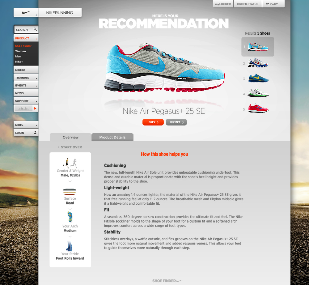 Nike Running Shoe Finder : Maria Ioveva